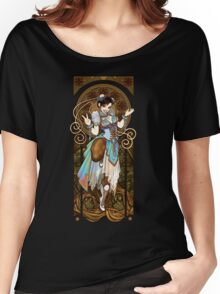 Strongest Woman in the World  (Art Nouveau China) Women's Relaxed Fit T-Shirt