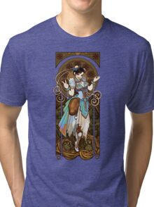 Strongest Woman in the World  (Art Nouveau China) Tri-blend T-Shirt