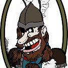 Beer-drinking viking by Arsonista Gartzia