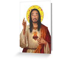 'Stevus Christ' - Steve Aoki/ Dim Mak Greeting Card