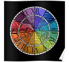 Color Wheel Clock Poster