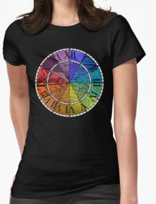 Color Wheel Clock Womens Fitted T-Shirt