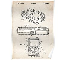1993 Nintendo Gameboy Video Game Invention Patent Art Poster