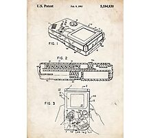 1993 Nintendo Gameboy Video Game Invention Patent Art Photographic Print