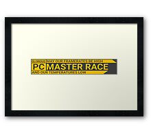 Large GLORIOUS PC Master Race Logo Banner Icon Sign Framed Print