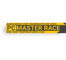 Large GLORIOUS PC Master Race Logo Banner Icon Sign Canvas Print