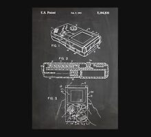 1993 Nintendo Gameboy Video Game Invention Patent Art, Blackboard Unisex T-Shirt