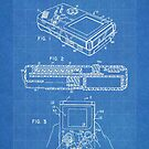 1993 Nintendo Gameboy Video Game Invention Patent Art, Blueprint by Steve Chambers