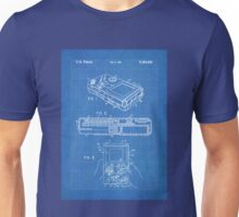 1993 Nintendo Gameboy Video Game Invention Patent Art, Blueprint Unisex T-Shirt