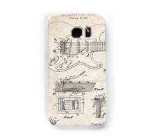 1956 Fender Stratocaster Guitar Invention Patent Art Samsung Galaxy Case/Skin