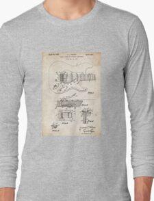 1956 Fender Stratocaster Guitar Invention Patent Art Long Sleeve T-Shirt