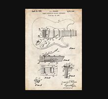 1956 Fender Stratocaster Guitar Invention Patent Art Unisex T-Shirt
