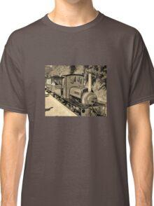 LAUNCESTON STEAM RAILWAY LOCOMOTIVE COVERTCOAT IN SEPIA Classic T-Shirt