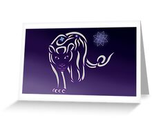 Star Lioness Tribal Design Greeting Card