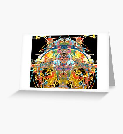 Riot In a Parrot House Greeting Card