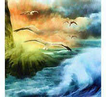 Seagull Fantasy Flight Photographic Print