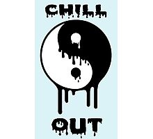 Chill Out Yin Yang  Photographic Print