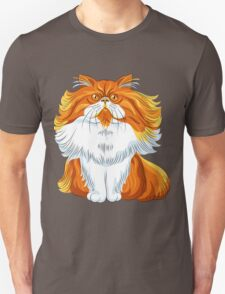 Cute red fluffy Persian cat  Unisex T-Shirt