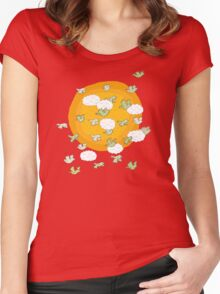 flock of wild parrots Women's Fitted Scoop T-Shirt