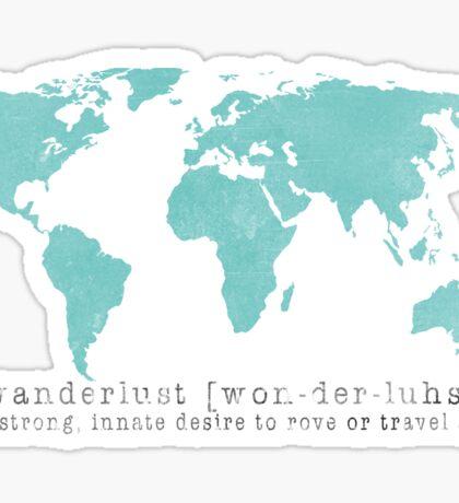 Wanderlust (n) Sticker