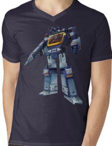 Masterpiece Soundwave (Transparent Background) Revised Mens V-Neck T-Shirt