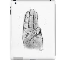 Hand Sketched Three Finger Salute (Black) iPad Case/Skin