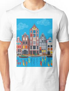 Amsterdam canal and houses Unisex T-Shirt