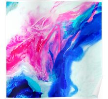 Francorum - abstract aerial resin painting Poster