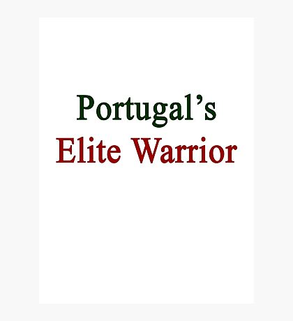 Portugal's Elite Warrior  Photographic Print