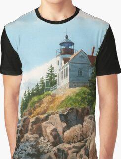 New England Coastline Graphic T-Shirt