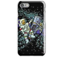 Spaceman and space cat iPhone Case/Skin