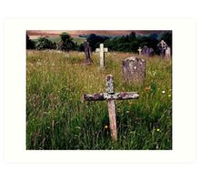 The Old Rugged Cross, Hawkshead, Cumbria. Art Print