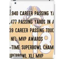 Peyton Manning Statistics Retirement iPad Case/Skin