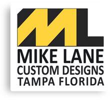 Mike Lane Custom Designs Logo Canvas Print