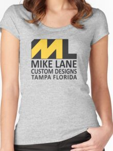 Mike Lane Custom Designs Logo Women's Fitted Scoop T-Shirt