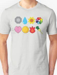 Kanto Gym Badges Unisex T-Shirt