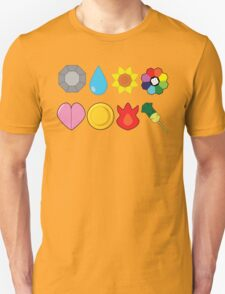 Kanto Gym Badges Unisex T-Shirt
