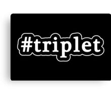 Triplet - Hashtag - Black & White Canvas Print