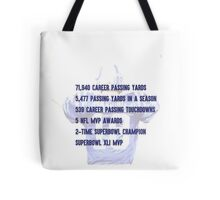 Peyton Manning Statistics Retirement Colts Tote Bag