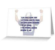 Peyton Manning Statistics Retirement Colts Greeting Card