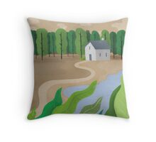 Beside the lake Throw Pillow