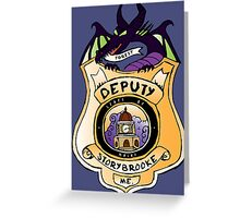 Once Upon A Deputy Greeting Card