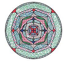 Marker Mandala Photographic Print