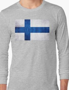 Finnish Flag Long Sleeve T-Shirt
