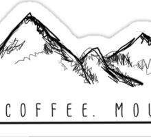 Jesus. Coffee. Mountains. Sticker