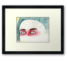 the Eyes of a Fighter Framed Print