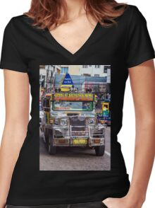 Classic Jeepney Women's Fitted V-Neck T-Shirt