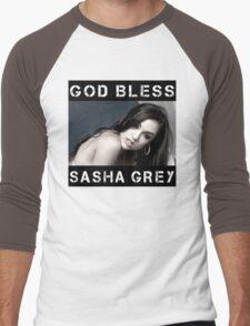 God Bless Sasha Grey Men's Baseball ¾ T-Shirt