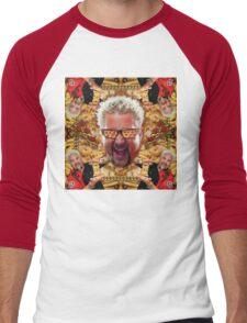 Cheesey Guy 's Greasy Pies Fantasy Mac N Fries World Men's Baseball ¾ T-Shirt