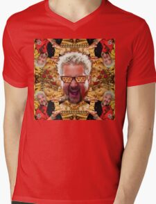 Cheesey Guy 's Greasy Pies Fantasy Mac N Fries World Mens V-Neck T-Shirt
